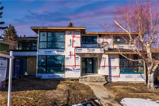 Incredible opportunity to own on one of Calgary's most ICONIC streets. 4108 Crestview Rd SW in Elbow Park, and on the Elbow River, is being marketed 'AS COMPLETED' for August of 2020. Interested in purchasing this home at the drywall completion stage? Purchase for $1,599,000 and take over the project now! It's passed all permits and rough-in inspections, and now ready for drywall! Extensively rebuilt making this home virtually new construction. Enjoy the 4 beds up (plus one down), each with ensuites, and a MBR retreat with EVERYTHING you'd ever want! The ensuite features dual vanities, custom steam shower, soaker tub, and even a south facing deck overlooking the park that leads to the river valley. The main floor is open, beautifully laid out, and set up for family and entertaining. With neighbouring properties worth 4-5 million dollars, whether you choose to buy the home as complete, the opportunity is yours to create your own vision for this home!