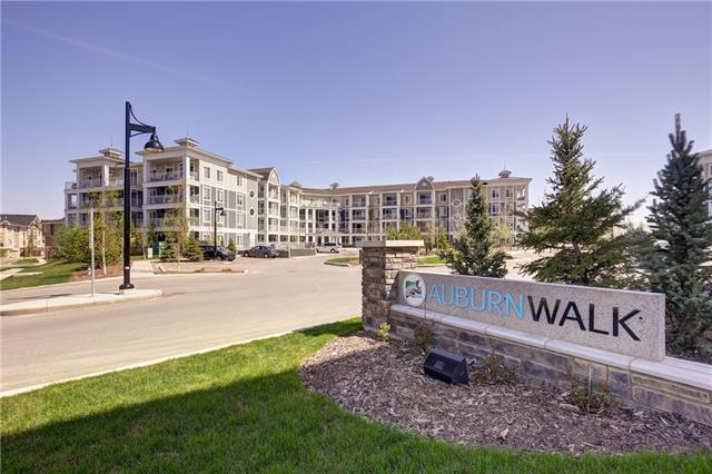 Welcome to Auburn Walk by Cardel Lifestyles! This upgraded 2 bed, 2 bath unit is like new and offers a great layout. Living/dining room and kitchen are all open concept. The living room has access to an oversized 116 sq/ft deck with mountain views and gas hookup for you BBQ. The kitchen is appointed with shaker-style soft close cabinets, granite counter tops, built-in deluxe stainless steel appliances featuring wall oven and microwave, walk in pantry, pendant lighting over the island and 9' ceilings. Master bedroom is a great size with a walk through closet to an upgraded 4pc ensuite with dual sinks, shower stall and linen closet. The second bedroom is on the other side of the unit next to the 4pc bath. The in suite laundry has full size washer/dryer and extra room for storage. One of the few units with Air Conditioning! Heated underground parking stall plus storage. This ideal location is right next door to Auburn Station which has grocery, pharmacy, gas bar, day care, dentist, Tim Hortons, A&W and more!
