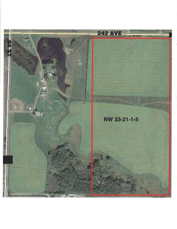 PRIME  LOCATION...LOCATION  THINKING ABOUT A LARGER PARCEL OF LAND THIS 77.59 ACRES MINUTES SOUTH OF CALGARY HAS IT ALL !!! VERY CLOSE TO THE  SOUTH WEST RING ROAD AND ALL THE AMENITIES THE CITY HAS TO OFFER.    PERFECT OPPORTUNITY FOR DEVELOPERS / INVESTORS OR BUILD YOUR DREAM HOME OASIS WITH ROOM TO ROAM   APPROX 60 ACRES IN CANOLA ( 2019 CROP ) WITH STUNNING MOUNTAIN VIEWS - MIXED LANDSCAPE INCLUDING MEADOWS - TREES  AND SEASONAL CREEK. CLOSE TO SPRUCE MEADOWS - GRANARY ROAD - GUN CLUB -  THE 18 HOLE SIROCCO GOLF COURSE AND  SO MUCH MORE. ENJOY THE BEST OF BOTH WORLDS !