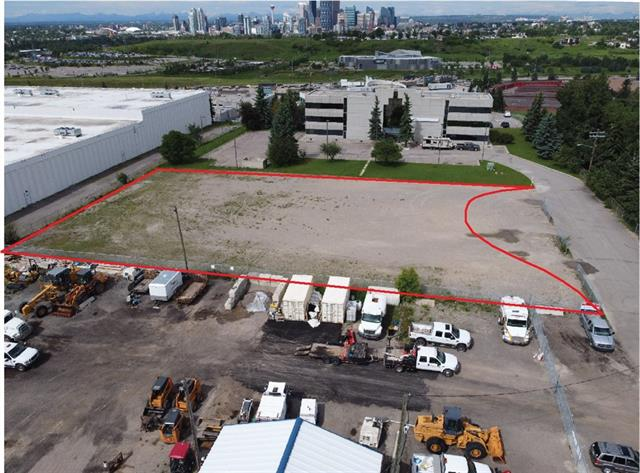 Rare find - 0.69 acres (29,924 sq ft +/-) of ready to develop inner-city industrial land. I-C zoning allows for a wide variety of commercial uses, notably including medical clinics, fitness facilities and office. A range of other permitted and discretionary uses include food service or more industrial automotive applications. Neighbored by a 3-storey office building to the west, and brand new re-developed bank of industrial condos to the east, this parcel is ready for someone looking to build with very few limitations. All services available from the roadway. Holding income is possible while waiting for permits as a parking or storage lot.  Walking distance to transit on 19 St NE and Barlow/Max Bell LRT, with quick vehicle access to Deerfoot Trail & Memorial Drive. Call today!