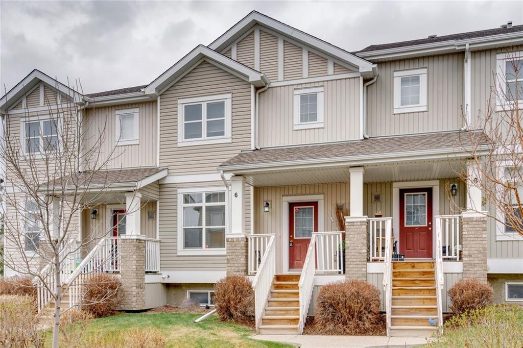 """Well dressed and ready to impress, this freshly upgraded townhouse is the easy option. Here are the top seven reasons to buy this townhouse 1) Second least expensive townhouse in Evanston with double garage (least expensive is 600sq/f smaller) 2) That double garage is double wide, not tandem style 3) Brand new floors throughout. Vinyl plank on the main and fresh carpet upstairs 4) Well run complex with low condo fee of $263 5) Freshly painted. No longer that wonderful """"brown"""" 6) Generous master, flanked by second bedroom and additional den/office that could be closed off 7) Seller is willing to negotiate for any additional upgrades to make this place work perfectly for you.   All this in the fully developed community of Evanston. Great access to amenities, restaurants, Stoney trail, parks and new K-4 school! Stay safe, be kind and support local"""