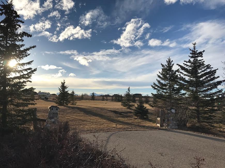 Great building lot on the edge of Calgary in beautiful Bearspaw and bordered with maturing trees along the entire perimeter of the lot. Fenced on 3 sides.  Beautiful pastoral views.   Access to Water Co-op is available.  Please call for details.