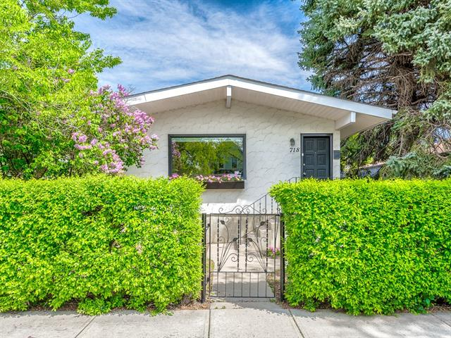 A rare opportunity to get 50 feet of inner-city land on a quiet, oversized tree-lined street. This Ramsay raised bungalow is move in ready and waiting for its new owners. It's fantastic location allows you to walk to breweries, shops, pubs, restaurants, cafes, historic buildings, river pathways, and schools. Plus, only a 10-minute walk to Stampede Park/Saddledome and best views of the city en route, just a 20-minute walk or a quick bike ride downtown, and minutes from bus stops and the future site of the Crossroads Greenline LRT. The open-concept living room and kitchen are bathed in an abundance of natural light that illuminates the beautiful laminate floors. The kitchen is perfect for entertaining with clear sightlines for easy interaction with family and friends. Retreat to your huge master oasis with built-in make-up vanity and large his and hers closets. The spacious bathroom has a tiled shower with vintage-styled fixtures. Please see additional comments.