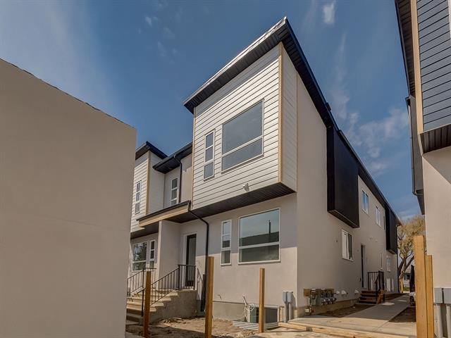 Only 2 homes left! Luxury meets convenience ? this beautifully appointed townhome is less than a 5min walk from LRT with a quiet inner-city location. Experienced builder, Chandan Homes, has crafted this bright 3-bed home w/ upgrades such as 10ft ?level 5 painted? ceilings, open staircase with glass railing, slimline fireplace, wide-plank engineered hardwood, premium wood cabinetry w/ gold hardware, quartz counters & premium stainless-steel appliances included. Inspired design selections translate to the primary bdrm & 5-piece ensuite w/ heated floors, dual vanity w/ make-up desk, jetted tub & shower with rainfall shower-head. Second bdrm w/ ensuite & laundry area complete upper level. Fully finished basement with rec room, wet bar, storage and third bdrm w/ 4-piece bath. Private pet-friendly yard and single garage all within steps of 17th Ave. Almost sold out and ready for immediate possession! New Home Warranty & GST included.