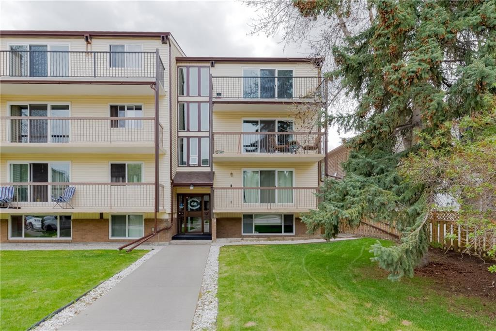 AFFORDABLE 2-bedroom condo on a QUIET STREET in Windsor Park! This end unit INCLUDES TWO oversized balconies - North & South - so you can enjoy sun or shade at any time.   Access your private South facing balcony right from your master bedroom. Excellent floor plan includes large living room, pass-through kitchen with adjacent eating nook, and large storage room.  Kitchen renovations include updated cabinetry and countertops, newer backsplash and stainless steel appliances.  Assigned parking with plug-in.  Close to chinook center, and easy access to downtown.  Age restriction is 18+.