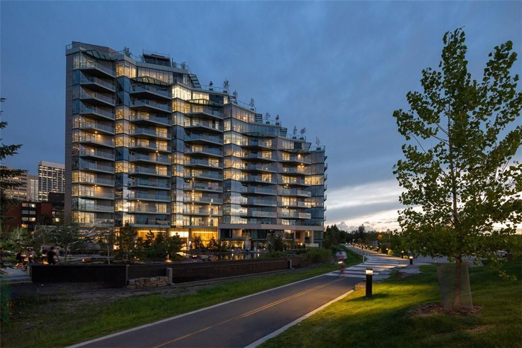 The Concord ? redefining luxury. Enjoy a spectacular waterfront location with superb vistas of the Bow River and Prince?s Island Park. Inviting open-concept living with floor-to-ceiling windows, marble surround fireplace, and the finest finishes including Poggenpohl cabinetry and Miele 30? stainless steel appliances. Spa-like bathrooms feature elegant marble walls and floors, warmed by an in-floor heating system. Powder rooms opulently appointed with timeless wall treatments and accent lighting. Offering amenities beyond your imagination including 24-hour concierge and security, a summer water garden, private skating rink, social lounge, fitness facility and 3 car washes. The building boasts long-lasting concrete construction, double glazed windows and a superior infrastructure designed for flood & emergency preparedness. Call to arrange your private appointment today.