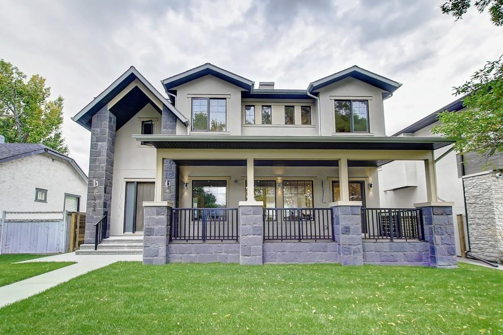 Love being home! This gorgeous new Rosedale build of 3175 sq ft is truly a family luxury, w/ 5 bedrooms, and 5 bathrooms, with serious attention to detail and quality. The expansive main floor hosts 10ft ceilings and wall to wall Eng hardwood floors + open concept living, kitchen & dining design. Stunning kitchen w/ waterfall quartz islands, SS hood fan/appliances, wall oven, gas range & large walk-in pantry + access the large back deck, patio & TRIPLE garage. Main floor bedroom or office, 3pc bath + dog wash shower & mudroom, out the convenient side entryway.  The 2nd level is complete w/ 3 bedrooms, each having their own full bath, incl a luxurious 5pc Master En-Suite, in-floor heat, soaker tub, stand-alone glass shower, DBL vanities DBL sided fireplace and massive walk-in dressing room + upper laundry rm.  The lower level is perfect w/ heated floors, 9ft ceilings, wall-wine-rack, wet bar, games room/yoga/rec area, full bath + 5th bedrm. Hard to find gorgeous, new builds at this price point in Rosedale.