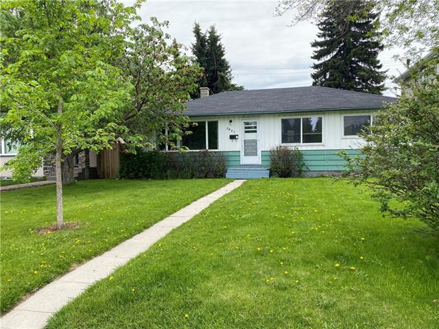 VACANT & IMMEDIATE possession possible! Builders will appreciate this FLAT R-C2 lot 50 x 120 foot 2 titled lots (557.00 SQM) in the sought out community of BANFF TRAIL. Possibilities for a consistent revenue stream as has been continually rented for the past 13+ years. Nestled on a nice street this bungalow is close to North Hill Mall, C-train, library, restaurants and IDEAL for students & hospital staff as nearby SAIT/Jubilee, UofC (~1km walk), Foothills Hospital and with a quick commute into the downtown core. Enjoy established schools, parks and all the amenities and services this inner city location has to offer. Develop it to suit your preference, rent and hold it for the longer term, MANY options for this solid 3 BEDROOM bungalow. Newer roof, hot water tank, original hardwood floors and a sunny SOUTH choice yard exposure. Book your showing today!