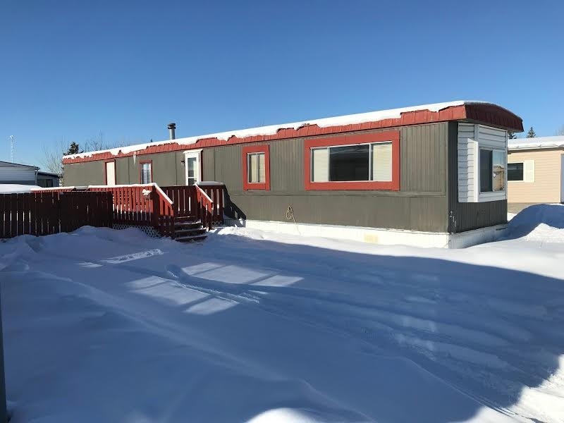 This home is located close to Highway 1A, Memorial Drive as well as Ring Road (Stoney Trail) Walmart, Cinema as well as few other stores are in the neighborhood. Bus stop, schools and playground, and Elliston Park also within walking distance. Lot Rent is $1074.00 which includes all utilities except heat and electricity.Also included in the lost fees is a 3 Tier Cable TV service and Internet. Possession can be held within few days.