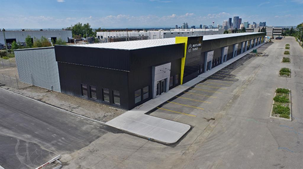Rare small industrial condos in central Calgary. Available Spring 2020. Fenced yard sold with each unit, one large drive-in loading door per unit with electric door openers, LED lighting, Infrared heating, and in-floor sump drains. Optional mezzanine level and skylights. Eight-minute drive to downtown Calgary and immediate access to Deerfoot Trail. Possibility for unit size flexibility, enquire for more info.