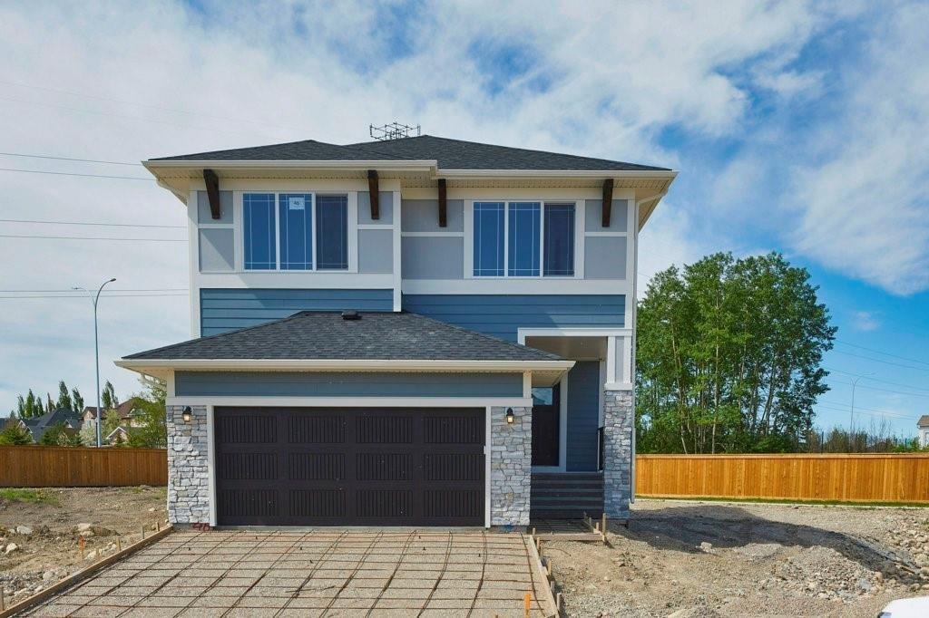 BRAND NEW CUSTOM BUILT HOME IN AN ESTABLISHED NEIGHBOURHOOD WITH A HUGE PIE LOT ON CALGARY?S WESTSIDE FOR SALE. WHAT WE LOVE ABOUT IT: A brand new cul de sac in a neighbourhood that was built in the 80?s, makes this truly a unique enclave of homes in Coach Ridge Estates. #46 is on the largest lot in the development, & the owners added a ton of custom touches. The house is pushed over to the left as far as it can go to allow a 9 foot space between the house & the fence on the north side. This would allow a boat, trailer, car, you name it to be driven down the side of the house. The lot is so huge, the house only covers 18% of it, leaving loads of room for a shop or second garage to be built. Backing onto a treed acreage ads to the privacy. Inside, custom lighting, an executive kitchen, a fully developed basement, upgraded plumbing fixtures, speakers wired through out, roughed in wet bars in the basement and bonus room, as well as numerous other upgrades from the builder make this a rare opportunity to own a brand new home with warranty, on a huge lot, 15 minutes from downtown. THE HIGHLIGHTS: Brand New Custom Built Home With Warranty!; Incredible location on Calgary?s West Hill. Fully developed basement; Massive pie lot backing onto a treed acreage.; Easy access to downtown, or the mountains; Custom touches through out the entire home; Cul De Sac location