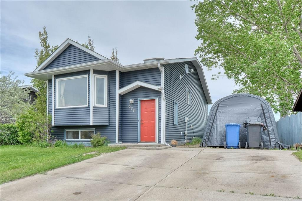 WOW! Cute Bi-level located on a quiet street in the quaint town of Irricana - just 20 minutes to Airdrie. 3 bedrooms up and 1 down + den (that could be converted into a 5th bedroom). The Main floor has hardwood in the living room and nice open concept with dining room and kitchen. There is a mudroom that is currently used as an office. 3 bedrooms and full bath complete the upper floor. Lower level has a bright family room with a cozy wood fireplace. Summer kitchen with eat-in area, a bedroom, den and fabulous bathroom that is all updated with oversized shower. Recent upgrades over the past 5 years include New front window in the livingroom, hot water tank, furnace, roof and siding. Enjoy small town living with easy commute to Calgary and Airport!