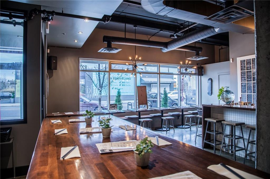 This is a very well-known location in the vibrant community of Bridgeland. With 1000sqft +/- of space, this is a very manageable size for a you in today?s market. With 35 seats, it can be operated as a full ?sit down? restaurant or could be used for a more casual concept with counter service. The space has 2 paid parking stalls for staff and is surrounded by lots of street parking, and the street has an abundance of walking traffic with lots of other small local businesses close by.  The kitchen is fully vented with make up air, prep area and all the equipment is well maintained. The location could be used for almost any concept?breakfast, sushi, burgers, pho etc. The d�cor is cool and funky, but is still warm and inviting, so any change in concept would be a pretty simple renovation.   Make sure to set up a tour of this space, it is the only way you can really understand it?s potential.