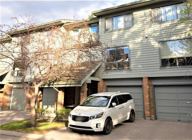 Backing on a walking path that leads directly to the Bow River Trails, this 3 bedroom townhouse in sought after Point McKay is priced to sell and ready for your personal touch! Spacious 4 level split with an attached front garage features a large living room with wood burning fireplace & access to the renovated West backyard & gate to the walking/bike paths. The dining room is perfect for family gatherings or can easily be converted into a Home Office/Den/Gym/options are endless! The large kitchen includes space for a kitchen nook and or Island and a large window overlooking the treed front space. The Master bedroom is massive with a sitting area, double closets a cheater en suite bathroom and space for a king size bed. 2 more bedrooms complete this upper level. Another 1/2 bath on the main floor.The lower level has additional flex room. Close to the Foothills & Children's Hospitals, University, Canada Olympic Park & the mountains are just a short 45 minute drive! Walk to the River & relax in the park.