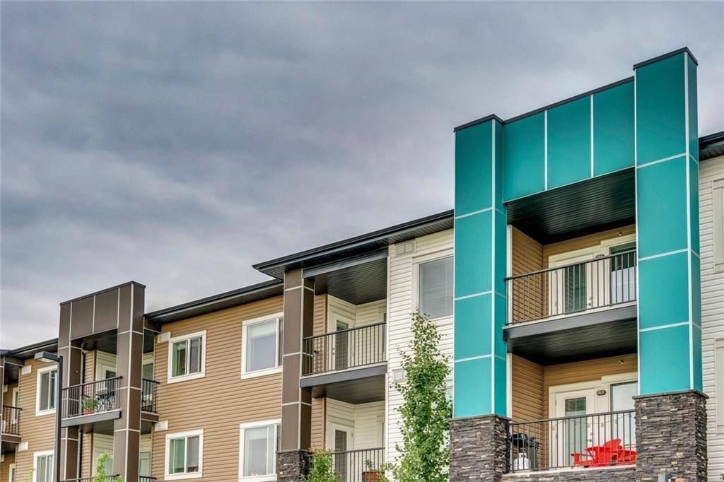 This is a beautiful 1 Bedroom + Den apartment. It is a very spacious unit with heated floors, 9-foot ceiling, stainless steel appliances, granite countertops, balcony, in-suite laundry, and an underground heated parking spot. Very close to several shopping centers that include stores such as Costco, Walmart, and Canadian Tire. Just minutes from Stoney Trail. 15 minutes from the airport. Nestled right beside large natural wetlands with miles of biking/walking trails, ponds, and ravines to explore.
