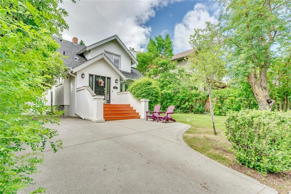 Don't miss this extensively renovated character home in Scarboro on a beautiful 50'x125' lot offering over 2735 sq. ft of developed living space on 3 levels and 3+2 bedrooms. It also boasts the best school zone in Calgary - Sunalta Elementary and Western Canada High, scoring over 9.0 from the Fraser Institute. This tight-knit neighbourhood is considered ?the small town in the city? ? Dinner Club, Dude?s Club, Book Club, the list goes on. This warm & welcoming home presents hardwood floors throughout the main, a spacious living room flooded with natural light & an ornamental gas fireplace. Gourmet kitchen with granite counters, solid wood cabinets & stainless steel appliances & is open to the dining area with extra bench seating under the window & provides access to the den/sunroom wrapped in more windows. There are 3 bedrooms with walk-in closets & a 4 piece bath on the second level. The front bedroom has a downtown view & the rear bedroom has access to a large deck, recently refinished.
