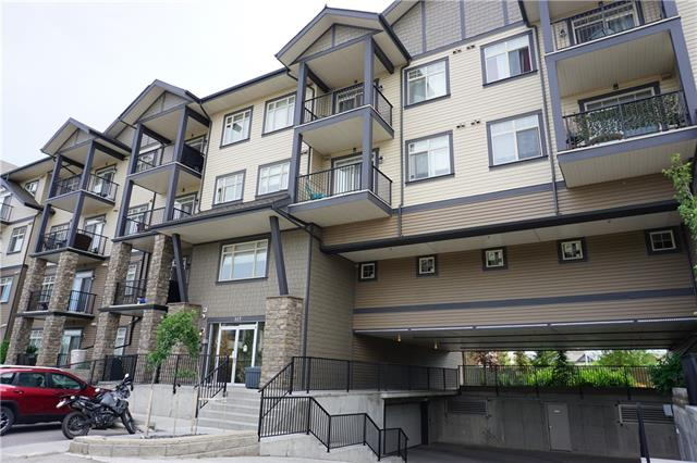 """Cozy and clean ONE BEDROOM plus DEN condo in popular Copperfield. This unit is ideal for the first time buyer. Beautiful kitchen with lots of cabinets and tons of countertop space. Large living room filled with lots of natural light. Good sized bedroom that will easily fit a quin size bed and full bathroom. Don't forget about HEATED UNDERGROUND PARKING and TWO Separate storage spaces (big and small). This unit offers tremendous value and truly """"move in ready"""" Don't miss this one!"""