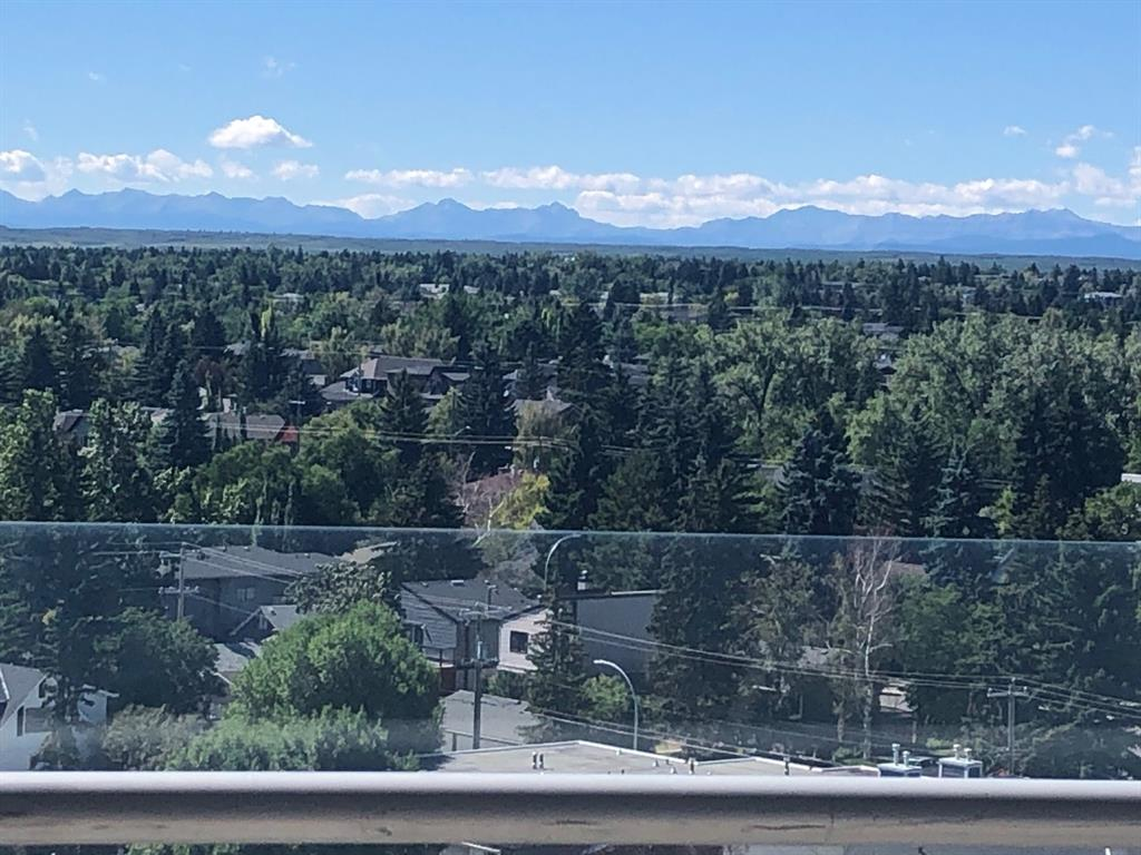 Just a few minutes to Downtown . Very Close to transit , shopping , parks  etc . This is just a fabulous condo !  Stunning views from everywhere , floor to ceiling windows . Enjoy the Mountains and South Exposure  . From the 20 foot glass rail balcony . This is a large and very open , 2 bedroom , 1153 square foot , 9 foot ceiling condo . Sleek Euro Kitchen with breakfast bar . Awesome master suite , including very spacious walk in closet . The ensuite has a soaker tub and walk in shower . Great laundry and built in storage area . There is a Bistro , Wine Shop and take out Pizza on building site .