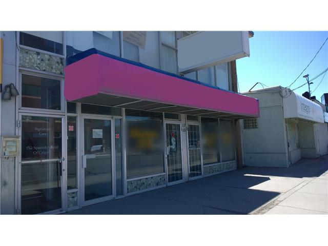 PRIME central location retail spaces. Unit #103 -1,123 sf, basic rent $22/sf. Utilities and operating cost is extra. Located on a high traffic intersection along TransCanada highway and Centre St NE. Bus station number 3 and 301 in front, parking at the back and free parking around the block on 17 Ave and 1st NE. Please do not approach tenant. Morning or mid-afternoon showings preferred, all showings by appointment only. Thank you