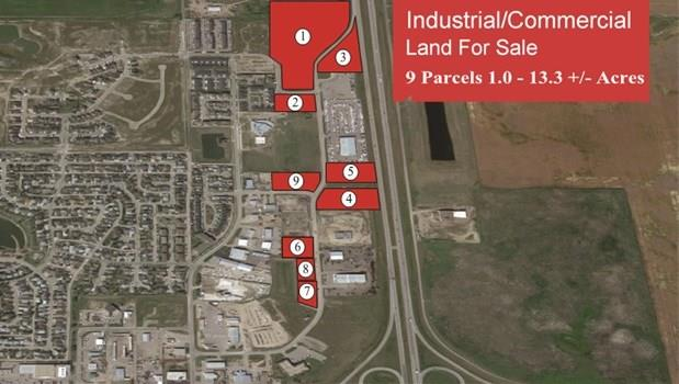 Industrial lot in High River Industrial Park. 2.38 acres was approved recently for car wash, day care and medical offices with over $100K invested in plans, approvals and servicing. Information available on request.Priced at $325K/acre plus $100K . Other lots available in park with prices adjusted for location and size.