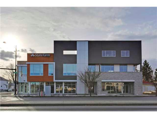1,091 Sq Ft prime office space on 2nd floor. Corner unit with NW & SW exposure. Convenient location with maximum exposure from direct access to 16th Ave & one block from Centre Street. Brand new contemporary mixed-use building with plenty of windows, tall 12 ft ceiling, elevator access, exclusive-use 160 sq ft patio, & common use rooftop patio. Common parking available. $23/Sq Ft base rent, $16/Sq Ft op costs. Available immediately, tour by appointment only, contact listing realtor for more details.