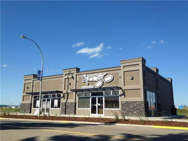 """Carstairs Building for Lease 1600 SQ FT Unit + option for 3 more bays approx 1600 SQ FT each. Interior Size: approx 31'8"""" x 50' Washroom: Barrier Free 5'10""""  x 10'9"""" Mechanical room: 7' x 4'3"""" Exterior: Stucco exterior Future construction will allow for 4 bays total.  Anchor tenants are Specs Optometry and Physicians Office.  HVAC: Rooftop unit Windows: On  West side of Building 19'2"""" Tenant Improvements: LL will pay for Concrete and drywall + TI allowance TBD. Lease rate $26 per sq. ft. annually. Will be constructed in 2018."""
