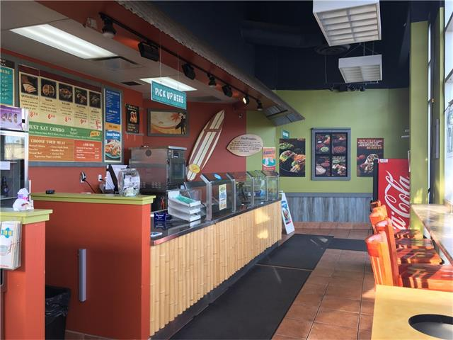 Profitable and stable brand name Franchise Mexican fast food restaurant with beer licensed. Located in Okotoks , 30 minute drive from Calgary. Well equipped for full service with spacious patio and good exposure, plenty of parking and well maintained complex. Current owner in 8 years business, local schools catering services regularly, 1300 sf, 40 seats plus, rent $5200.00 included op cost. Please do not approach staff, showing by appointment only. Thanks !