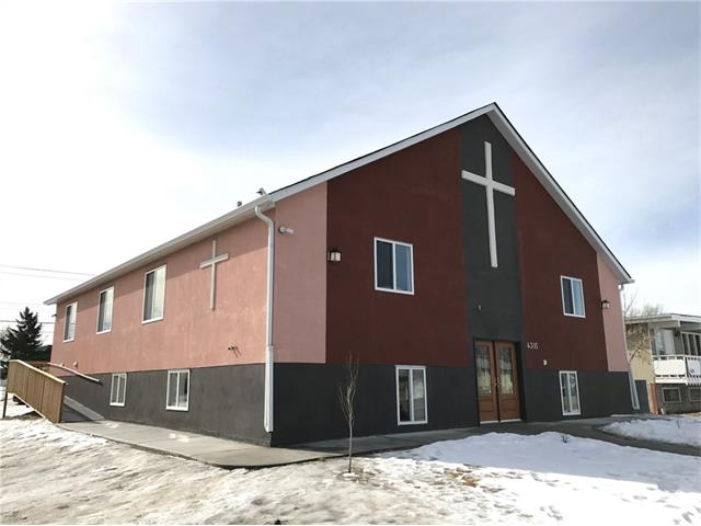 Extremely rare opportunity to purchase BRAND NEW Church property, PERFECT FOR RELIGIOUS GROUPS, SCHOOL, DAYCARE USE.  NO OTHER CHURCHES FOR SALE IN THE CITY/  It is very difficult to build a new church in Calgary as it can take years to plan, approve and build a similar structure . All permits is approved by the City. 299 occupant capacity. Approx. 4,700 SF total usable space with modern open high vaulted grand ceiling design. Main floor with 2 - offices, washroom, DJ area and a grand stage. Functional and thoughtful design with generous lighting fixtures and sound system wiring throughout. Basement with KITCHEN, open area for classrooms and LARGE sitting/meeting area, office, women/men washrooms. Rear ramp for handicap access. Exclusive parking on side lane for 18 stalls and 11 stalls at rear of property. Great community close to schools, playgrounds and parks. Very central, just blocks away from 17 Ave SE, few steps away from public transit. Current leases generating INCOME will help with mortgage.
