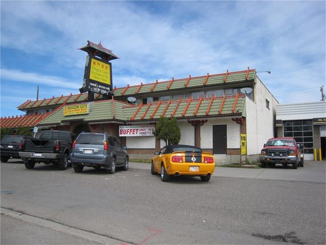 THIS HIGH DEMAND PRIME COMMERCIAL PROPERTY CONSIST 4-ADDRESSES; (1.) 4404-17 AVE.SE. THE DRAGON GATE RESTAURANT,INCLUDES ALL EQUIPEMENTS FOOD IS OPTIONAL,BUYER MUST USE ANOTHER NAME.THE RESTAURANT IS GOING STRONG WITH DAILY BUFFET LUNCH & SUPPER.THE UPPER LEVEL CONTAINS 8-ONE BEDRM SUITES,. (2.) 4402-17 AVE. SE.THE SPOT PUB & GRILL  AT HE CORNER OF 43 ST. A BUSY BAR N GOOD TENANT.  (3.) 1726-43 STREET, VACANT LOT . AND (4.)1727-44 STREET SE. VACANT LOT,BOTH PARKS UP TO 28 CARS. THIS DC LAND .