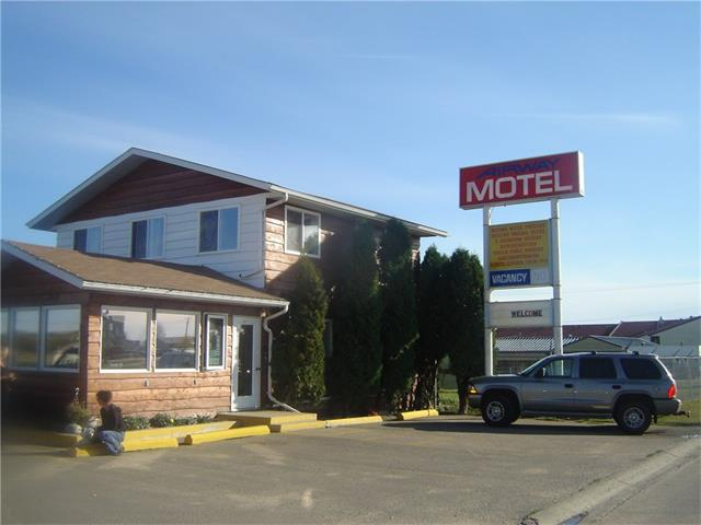 LOCATION LOCATION LOCATION!!! Great business opportunity in a solid oil and military based city of Cold Lake, Alberta.  This 26 room motel has a good room split with 10 kitchenettes, One 1 bedroom suite and one 2 bedroom suit. Also comes with an 1100 sq ft two storey home and 200 sq foot office.  This property is only minutes to down town and CFB military base and is a Prime location with Highway 28 frontage. Very easy access for large vehicles pulling in and out.  There is a vacant lot .48 acres right next door also with Highway frontage that can be purchased with the motel or separately at 199,900.  Current owners have had the property for over ten years and have all up to date financials.