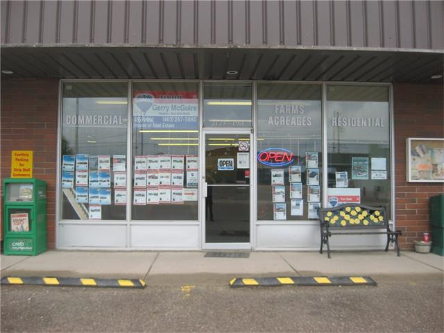 Great Location!! Part of the Mall on 19 st in Nanton located between Highway 2.only -35 min from Calgary. Mall is very busy Consists of  8 businesses. Condo is unit 5 consisting of 138.7 sq M(1510 sq ft) Customer parking at front with Staff parking in Rear of building. 19 street is one of the main business sections of the down town core