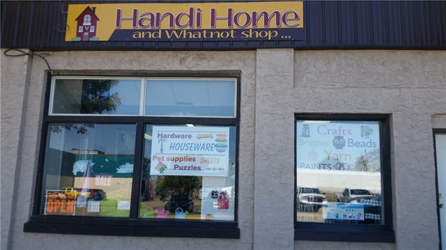 Here is a great opportunity to own a GROWING BUSINESS on MAIN STREET CARSTAIRS! Handi Home & Whatnot Shop offers A LITTLE BIT OF EVERYTHING for sale & the store is FULL of the things your household uses everyday- CRAFT SUPPLIES, PUZZLES, TOYS & GAMES, HARDWARE ITEMS, KITCHEN SUPPLIES & much more. ~3000 sq feet of RETAIL/STORAGE space with large windows facing MAIN STREET with great STREET FRONT EXPOSURE. Carstairs is only 30 minutes to Calgary & is growing quickly as a family community. Plenty of parking on street & in the parking lot across the street. Everything you need to open the business is INCLUDED from the STOCK ON THE SHELVES & in the back STORAGE ROOM to the SHELVING and DISPLAYS. Become an ENTREPRENEUR today & take a look at this business to add to your life. BUSINESS ONLY FOR SALE- building is rented with the tenant paying, insurance, gas, power, internet & town bills. Please leave store employees to their work and direct any questions to listing realtor and to set up an appointment to view.