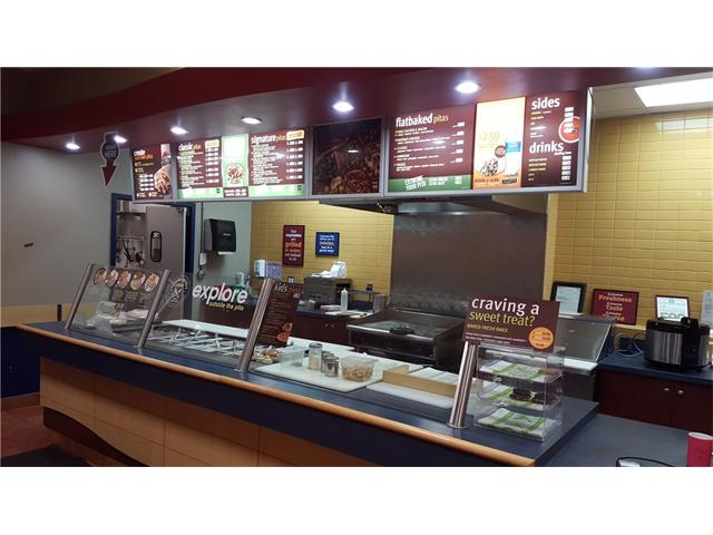 Well established (14 years),popular fast food healthy pita wrap business located in busy town shopping center. Average monthly sales $24,000.  Cost of new Pita franchise minimum $ 325K. Great Business for owner/operator or family run business in the city of Red Deer.Note; Location is not actual.