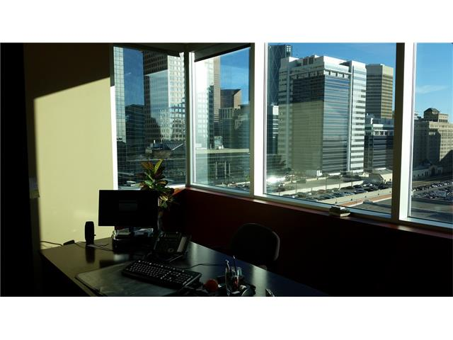 For Sale Attractive office condo unit in the Beltline. 10th Floor with views and natural light.  Layout includes, reception, 8 offices on glass, open space (7 workspaces) server room and kitchen  One titled parking stall included in price.