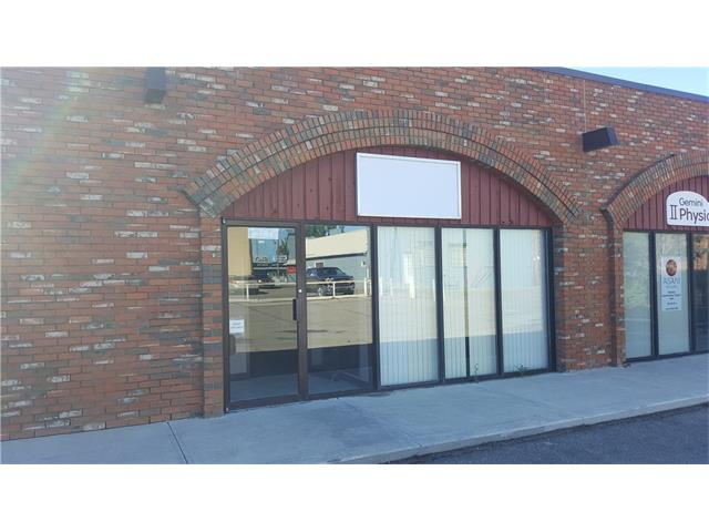 Prime office/retail space for lease located in downtown Vulcan, Alberta.  Currently, there are five office spaces, two washrooms, and two reception areas, as this property is accessible from 1st Street South, as well as from the parking lot on the north side of the building.  This property is part of the shopping mall.  Lease is $985 per month plus insurance, taxes, utilities, yard maintenance.