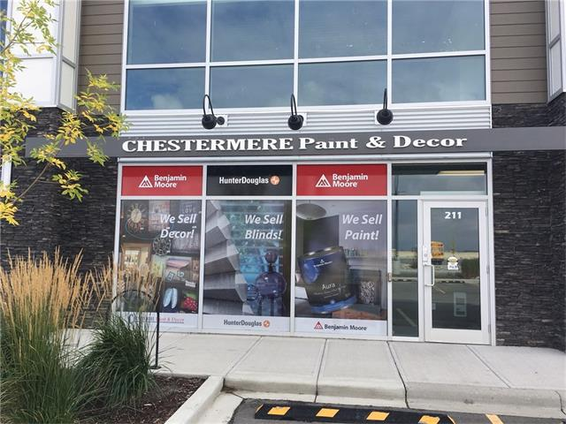 Looking to save money in startup costs!  $140,000.00 in lease hold improvements done, and could be yours, take advantage of this great opportunity!!  Ready for your business to launch in a Desirable Retail Location?  Located on the west side, Chestermere Business Park, has anchor tenants such as,  No Frills Grocery, Liquor and Gas Bar, Dentist, Dollar Store and many more. Call to view this space today!  This unit is completely built out and ready to occupy with 2,900 square feet, two 10x10 offices, handicap accessible washroom, and large bay door at the rear.  Ideal location for retail, showroom/warehouse or fitness studio/cross fit. The unit has ample parking front and back!