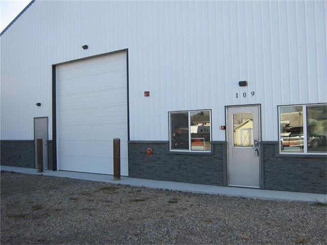 Adaptable 3600 sq ft building with a Central Location in High River - Light Industrial Area. Building is new never occupied . Front Office with A/C, 14 foot Overhead Door, Modern Fire Suppression, 3-Phase Power, Over Head Radiant Heat, Exhaust Fans, 220 Outlets, Washroom Floor Sump, and handicap Washroom. Front yard will be paved in the Spring 2018. Large Open building with multiple capabilities.