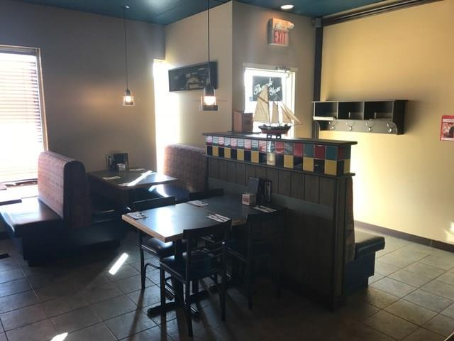 Rare opportunity to own the ONLY seafood franchise take-out/sit-in Restaurant in High River.  Located in busy strip mall, with huge parking lot and adjacent destination supermarket, coffee shop and banks . Same owners for last 4 years and is easy to operate. A favorite menu for this small town with monthly average sales of $40,000/month, and great support from Franchise with low Royalty/advertising fees. Seating of over 50 people on restaurant side, and 50+ on the bar side.  Bar side has liquor license and boost sales with new menu/cuisine to entice the clientele (pending LL approval).  Well laid out commercial kitchen with work counters, walk-in cooler, walk in freezer, recently replaced new water heater and door at rear of kitchen for easy unloading of inventory. Both restaurant and bar side have their own his/hers bathroom and can do separate entrance. Priced well below replacement cost.  Be your OWN boss with this great business!