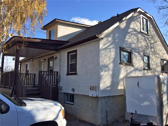 Location location location! Very rare 3 separate self-contained units in R-C2 zoning is hard to find in the market. Main floor(two bedroom unit) is currently under renovation. The kitchen will have a brand new cabinets and counter top. New flooring in the two bedrooms. The bathroom is getting modernized. Upper(one bedroom) and basement units(two bedrooms) have separate municipal branch addresses 401B & C respectively. You will have options to choose from. Just live in one of the unit and rent out the others as mortgage helper, or rent out all while holding the property for future development. Or subdivide the land and build an infill on the one and sell the other half, Re-zorning, etc.. Your possibility is enormous. Garage could be rent out as well.