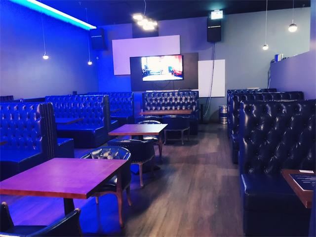 This bar & KTV is located in downtown west. Bar size is around 1800sf with 2 VIP Karaoke rooms. Open 6pm to middle night, you can easily increase sales by adding commercial kitchen serving dinner. Rent is around $6,800 with 2 parking. Owner will provide training. Original set-up cost over $100,000, it could be converted to other food service (Japanese, Chinese or western food)upon landlord approval. 