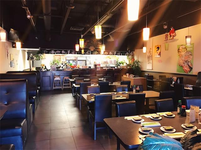 Established, profitable sushi restaurant available for sale in south Calgary. Nice decor. 1,900 square feet with 74 seating capacity. Liquor license and sushi bar. Located in the center of business district, within walking distance to hotels and shopping centers. The monthly rent fee is approximately $7,000 including operating cost. Sales for 2016 around $450,000. Full commercial kitchen with walk-in cooler. Please do not approach staff and tours by appointment ONLY.