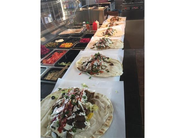 Repeat clients, Well Established Restaurant, since 2007, Serving West Hillhurst NW. Full Kitchen, Large Orders on call, New 5 year Lease, with Option to Renew. Rent 5000 a month includes operating cost. Over 300k investment.  Dinning and Take out. Liquor license is OK by landlord, great patio. Equipment Lists is in the Pictures with original costs and Today's Price of each item. Priced to sell. Business makes 300,000 to 400,000 yearly.
