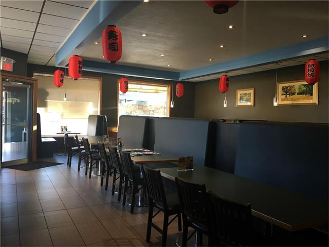 Well established non franchise Sushi House Restaurant right in Downtown of Medicine Hat AB. This restaurant currently serving Sushi but also can be change to different food concept. It comes with full commercial kitchen with walk-in cooler and freezer. 3100 sq,ft. 76 seating, rent payment is $3500.00 per/m includes op cost and GST. Lease has 4 1/2 years left plus renewal option. Turn-key. Don't miss out this opportunity. All showing by appointment only, please do not approach staff. Thank-you !