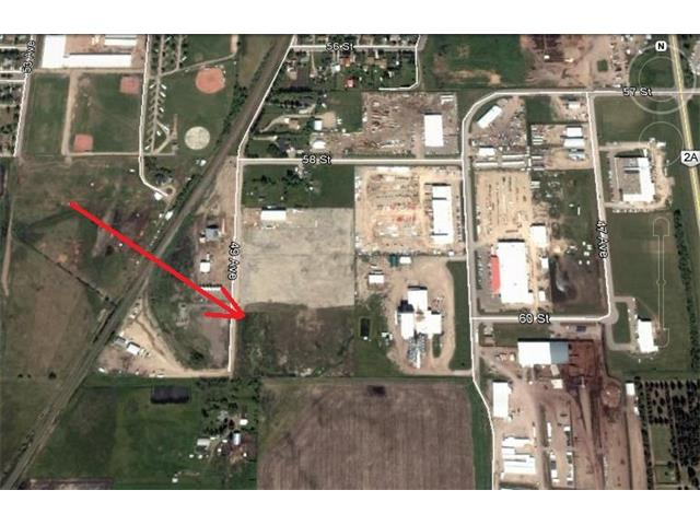 OLDS ALBERTA. 6.72 Acres of Prime Serviced Land in Olds SE Industrial  Area . Town water and sewer to the NW corner of the Lot. 3 Phase power along the West boundary. Top soil removed, Re-Zoned Light Industrial, and OFF SITE LEVIES PAID. Ideal for larger industrial operator or for future subdivision into Smaller lots. Ready for Immediate possession.