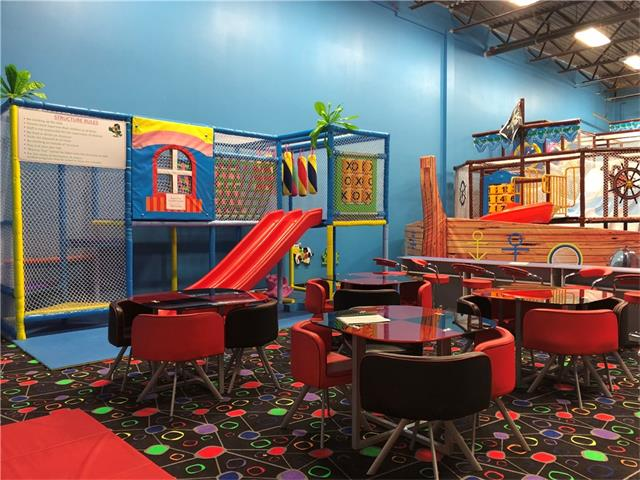 This is the best family entertainment center with the newest indoor party and play events. Facility is committed to providing fun and exceptional service as well as affordable entertainment to all of the guest. It has an arcade, play structures and climbing wall. Facility offer great entertainment and the best birthdays parties in town. Whether you are looking to a big event or just want to have the place to yourself this is the right place. It can accommodate facility rentals for up to 150 people. Owner has also applied to the pre school licence program ,  City has approved the application for change of use. The property is now zoned for pre school program, this will be an added benefit to the buyer. They could run the preschool as well the play arcade. More information can released upon signing a confidential agreement.