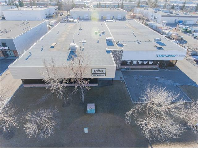 Great Location, close to Barlow Trail and the Airport!  This 21,213 sq ft Ind Building boasts large warehouses spaces with showrooms, offices and much more.  1 building with 2 mailing addresses perfect for leasing both sides, setting up shop in one side while leasing the other.  Unit 1 is 12,675sq ft, Tenant Occupied; Lease Expires Oct 2021, Lease rate: $8,194 mthly plus Op Cost.   Unit 2 is 8,538 sq ft  Will be vacant January 2018.   The building's electrical consists of 5 (200 amp) panels, 1 (400 amp) panel, 1 (600 amp) panel, two separate roof top HVAC systems.  The yard is fenced with the dock doors at the rear and West sides of the building.  Plently of parking for customers and staff.   See the Additional Remarks for more information.  You won't want to miss this opportunity!