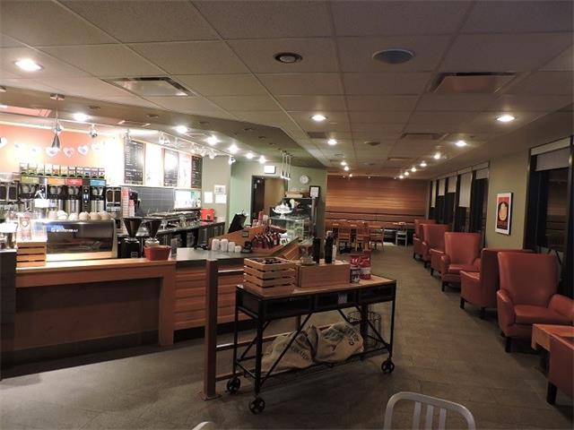 Rare opportunity to own an easy to operate Franchise Coffee Shop located in Government building in heart of Downtown with guaranteed foot traffic.  This Flagship store has been operated by same owner since day one, for the last five years and requires only 4-5 staff for daily operations.  This 2150 SF space is Turn-Key ready and tastefully designed with full front counters, display case and lots of sitting space for Patrons.  Small kitchen at rear with convection oven allows for fresh baked items.  This business generates over $50,000+ monthly sales (2017) and not to mention this Business already Caters within the Municipal building for their lunch and meeting needs. Business is only open from Monday-Friday and closes at 4:30pm, be your own boss and still have the weekend for family life. Please give 24 hours notice and DO NOT APPROACH STAFF, must sign NDA before releasing name and address.