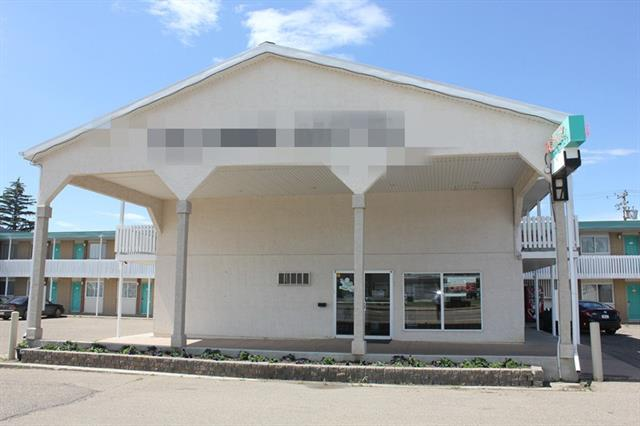 51 unit Motel In Brooks Alberta on a prime location, lots of room for expansion.23 kitchenettes with fridge ,stove ,microwave dished, LCD Tv's , lots of parking on front and back, nice and clean front office ,1 bedroom manager suite. Motel was renovated in 2014 with all furniture, flooring and paint. Lots of repeat customers, 1.58 acres of land, total of 22000sq ft building, good reviews on booking sites.