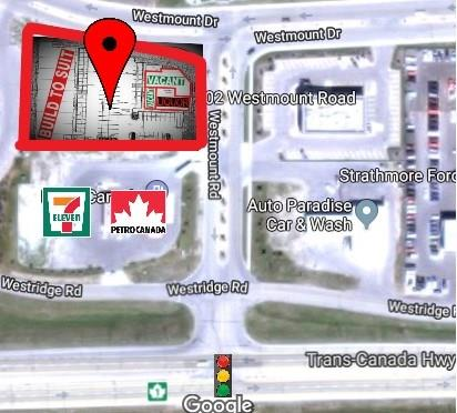 Excellent brand-new retail / restaurant opportunity in the fast-growing town of Strathmore. The site offers unique features such as being next to a 24 hour 7-Eleven, ample parking, great access & exposure to Trans-Canada Highway, surrounded by apartments and estate homes. North side space(s) have beautiful water/pond/green-space view in summer. Flexible retail space size is available as per your requirement. Ideal uses: Medical, Exercise/Yoga Studio, Financial Services, Veterinary clinic, Pizza, Restaurant & Bar.