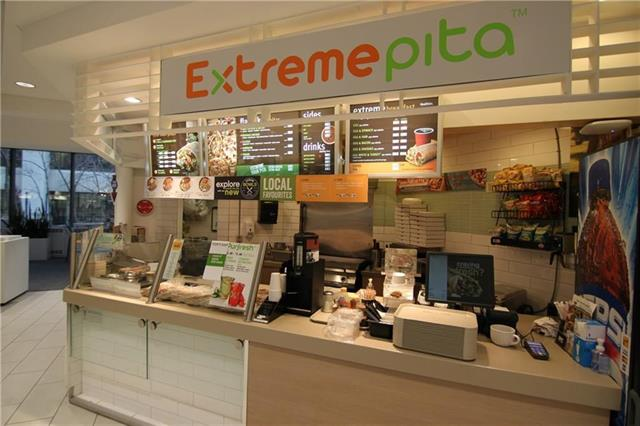 VERY BUSY FOOD COURT LOCATION ON DOWNTOWN 6 AVE 5 STREET WITH OFFICE BUILDING AROUND.EASY OPERATED FAST FOOD FRANCHISE ' EXTREME PITA'   GOOG FOR COUPLE RUNNING .